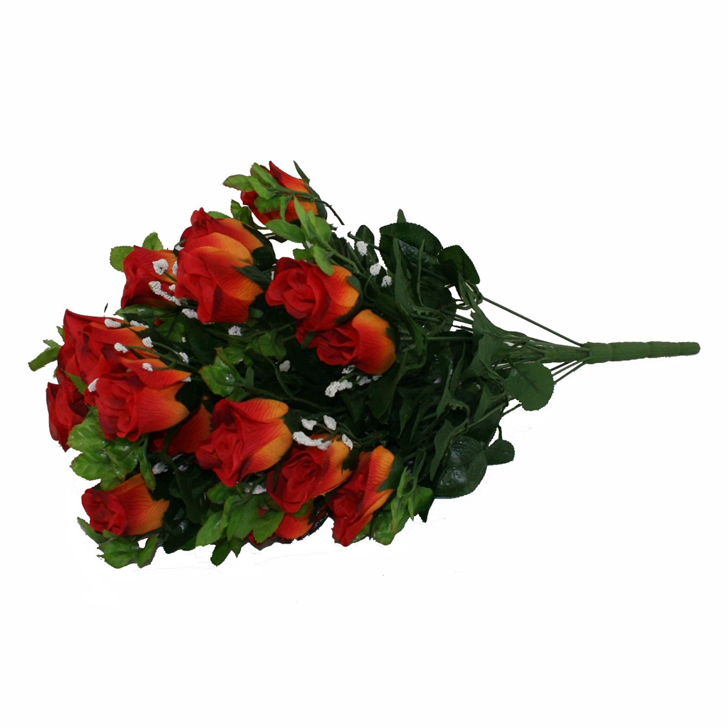 Cheap plastic flower stems find plastic flower stems deals on line get quotations floristrywarehouse artificial silk flower burnt orange rose gyp bunch 24 stems of roses 21 inches izmirmasajfo