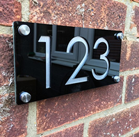 high quality customized number black acrylic door plaque