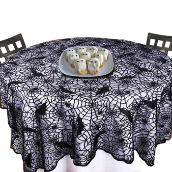 70 Inch Round Table Cloth.Black Bat Lace 70 Inch Round Tablecloth Rectangle Overlay With Spider Web And Bat For Halloween Party And Decoration Buy Black 70 Inch Round