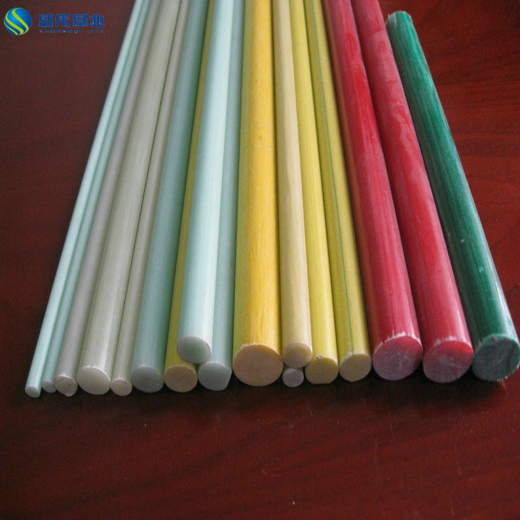 FRP GRP colorful pultruded bar solid fiberglass rod square round plastic tube