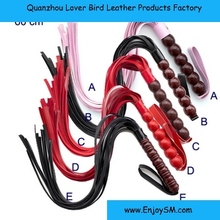 Adult Product Sex Toy PU Leather Flirt Flirting Tool Hand Handle Whip for Tawse
