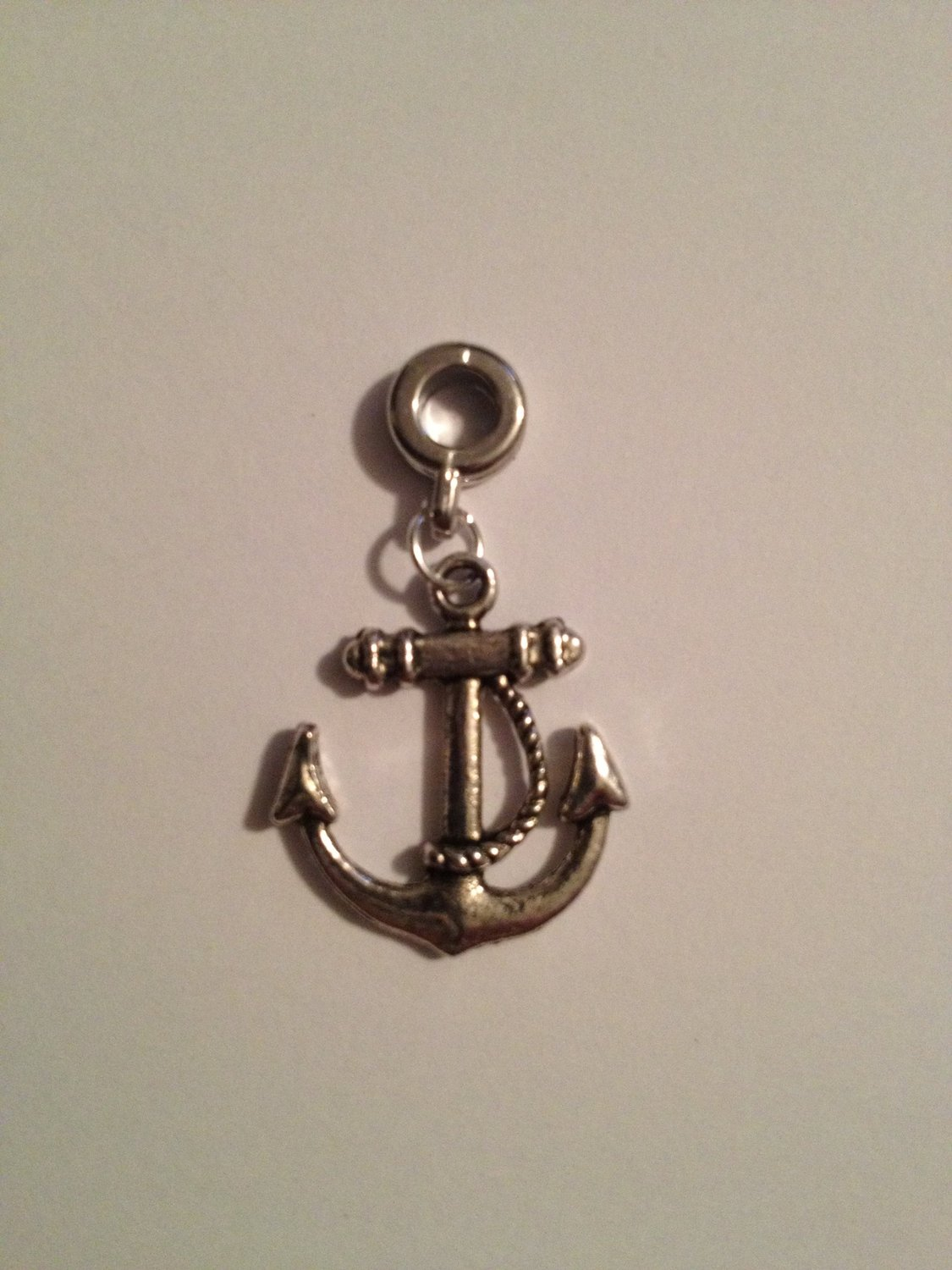 Divine Beads: Anchor Dangle Charm by Divine Beads © Simply Slides on Slides Off Your Bracelets and necklaces. Fits Pandora, Biagi, Tedora, Chamilia, Bacio, Troll and other European style charms & beads bracelets.