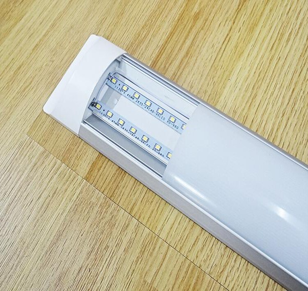 600mm led purifying tube 18w 26w 36w ceiling surface mounted LED Batten light tube/flat led tube/narrow led panel light