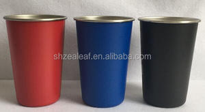 4 pack set 16OZ Brushed Stainless Pint Cups