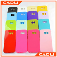 Fashion High Protective Candy Color Jelly Soft TPU Silicone Shockproof Case for Samsung Galaxy S6 S7 edge