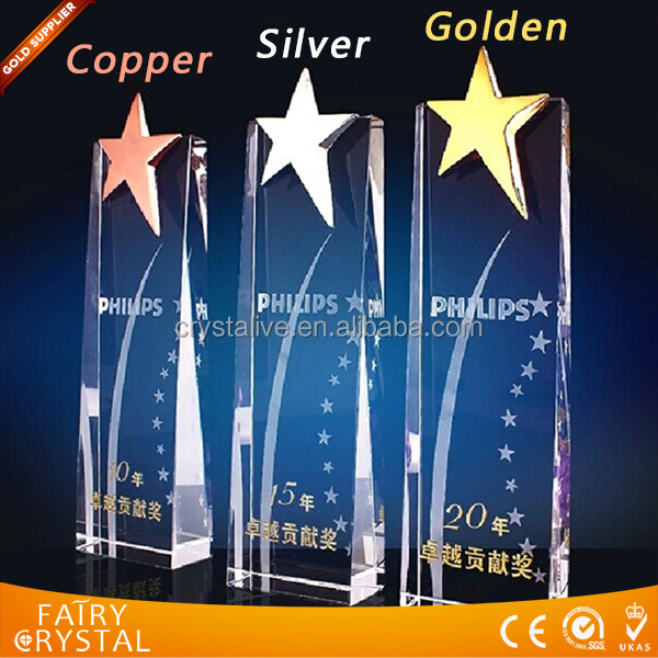Elegant crystal awards and trophies made in china