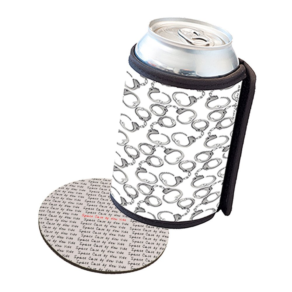 Space Case by New Vibe Can Cooler Koozie - Police Handcuffs