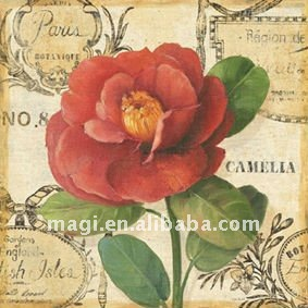 Romantic Flower Design Vintage Canvas Oil Painting