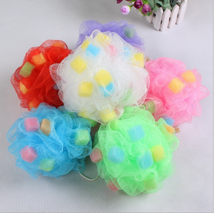 Bath Sponge Exfoliating Shower Premium Quality Mesh Loofah Assorted Colors Luxury Care Bath Sponges For Men & Women