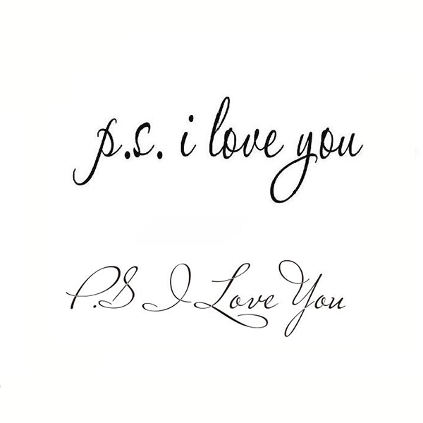 PS I Love You Wall Art Decal Home Decoration Famous Inspirational Quotes Living Room Bedroom Waterproof Removable Wall Stickers