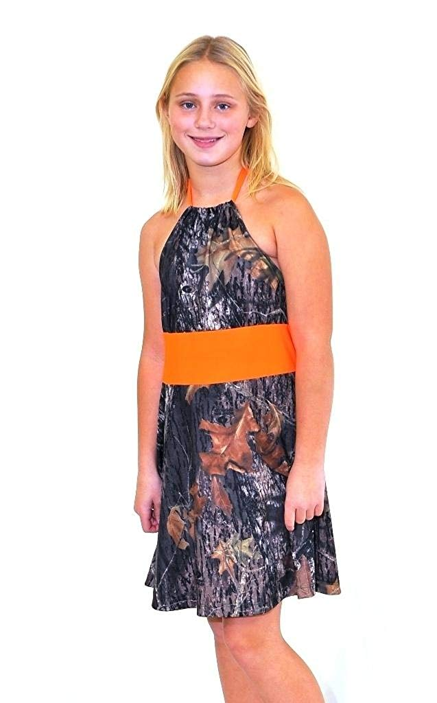 41667f76fd2 Get Quotations · Camo Diva ANNIE BLAZE Youth Girls Camo Dress Flower Girl  Junior Bridesmaid Pageant Party Dress