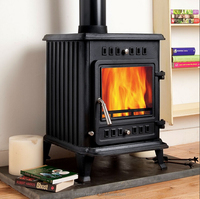 European style multi-fuel wood stove small