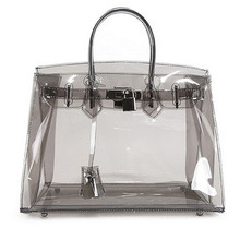 Groothandel hot selling fashion <span class=keywords><strong>pvc</strong></span> clear handtas tote dame handtas
