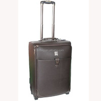 popular vintage high quality business travel patent leather trolley luggage with wheel