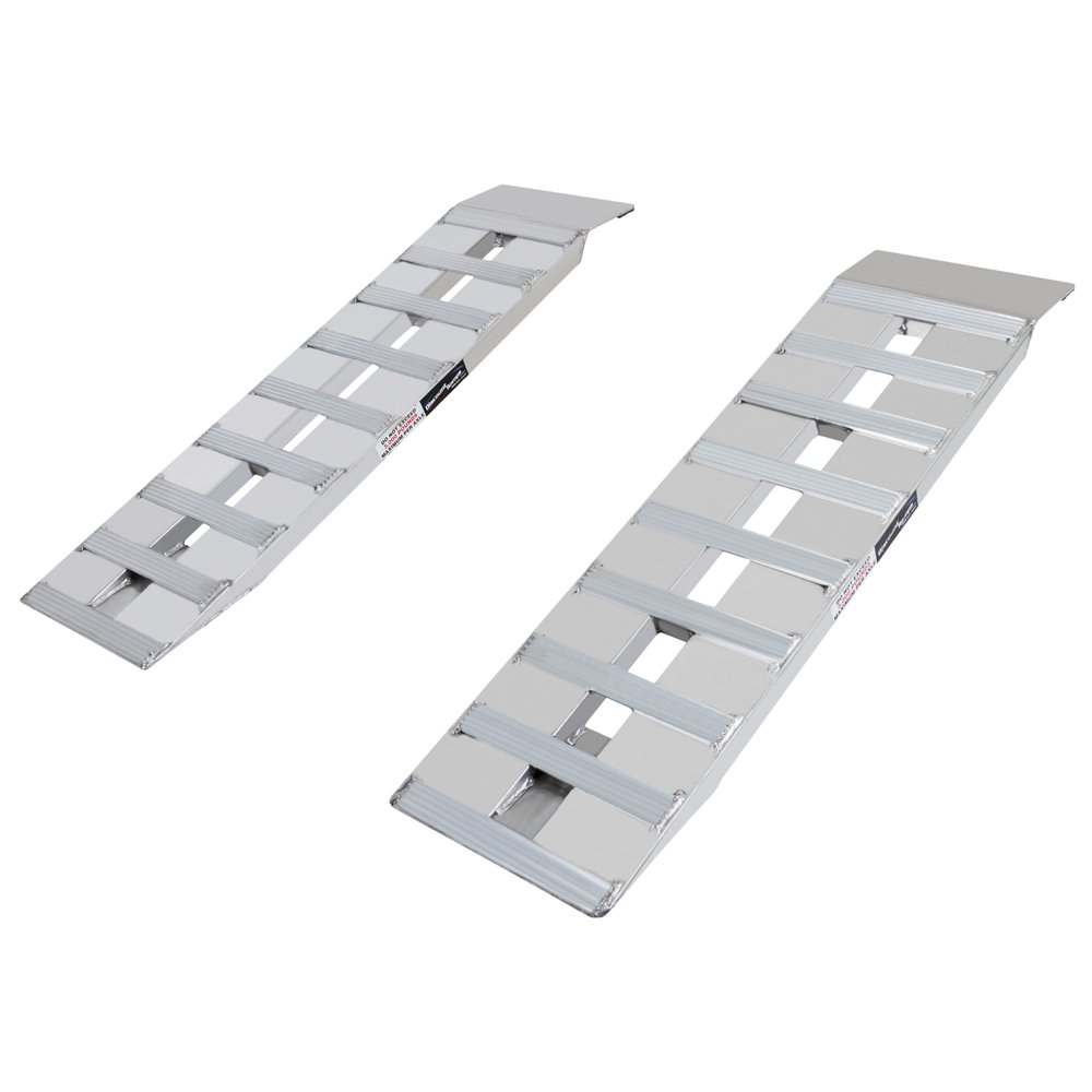 """Discount Ramps 48"""" x 15"""" Aluminum Car Trailer Loading Ramps Plate-End"""