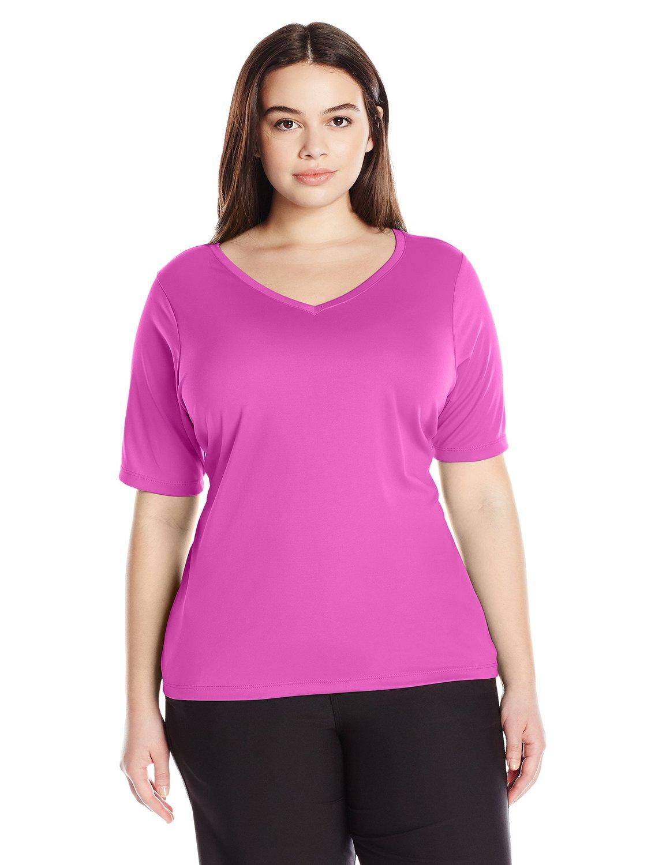 583b235f5ed16 Get Quotations · Kanu Surf Women s Plus-Size Solid UPF 50+ Swim Shirt  Rashguard