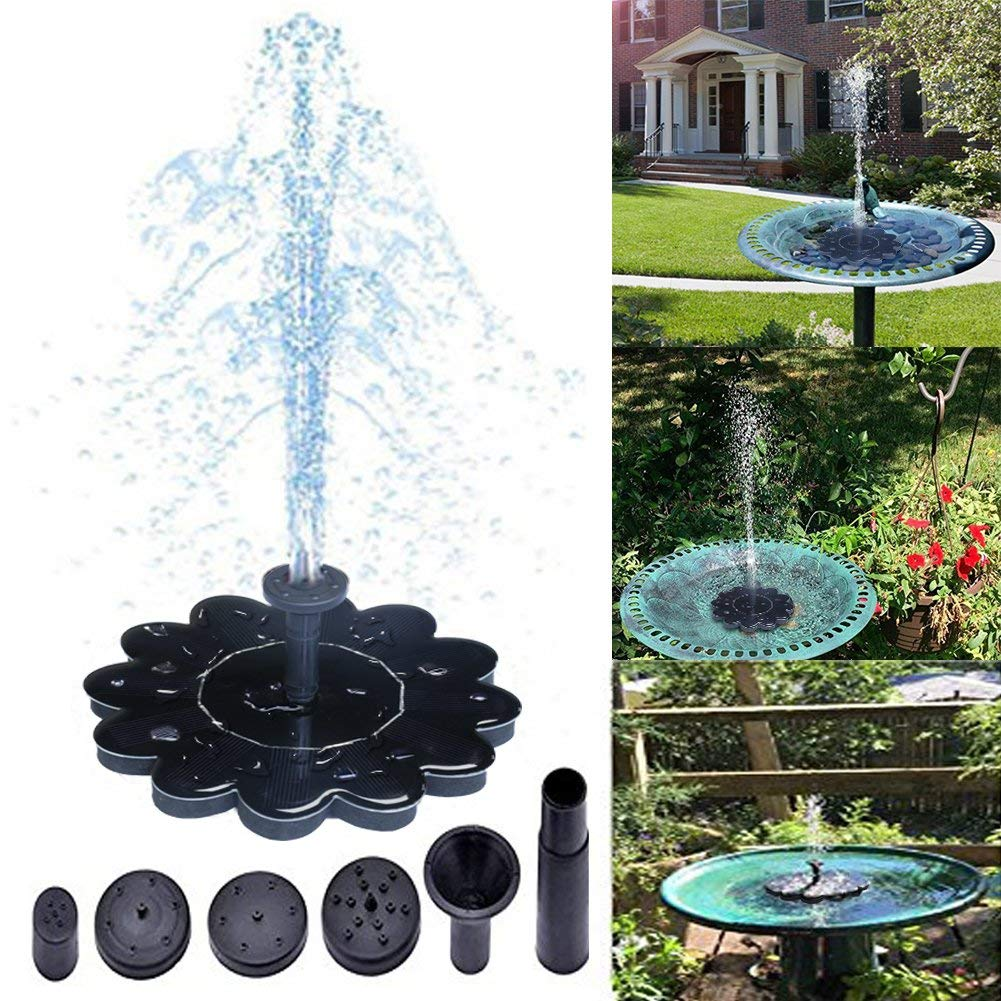 Solar Fountain,Bird Bath Fountain Pump Solar Powered Water Pump(Sunflower Bird Bath Fountain)