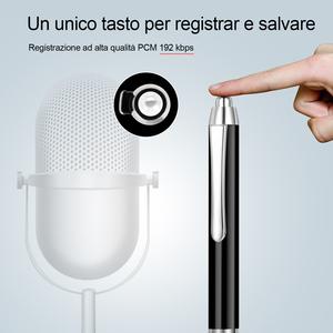 QZT Best quality new model  Black  mini portable pen voice recorder with 16GB memory