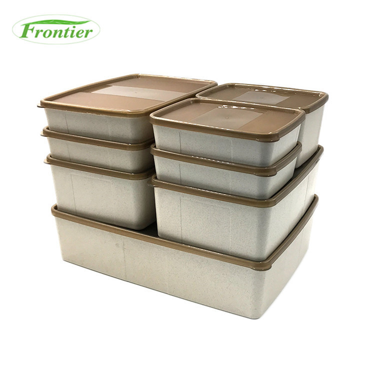 2017 Food grade BPA free wheat fiber take away lunch box