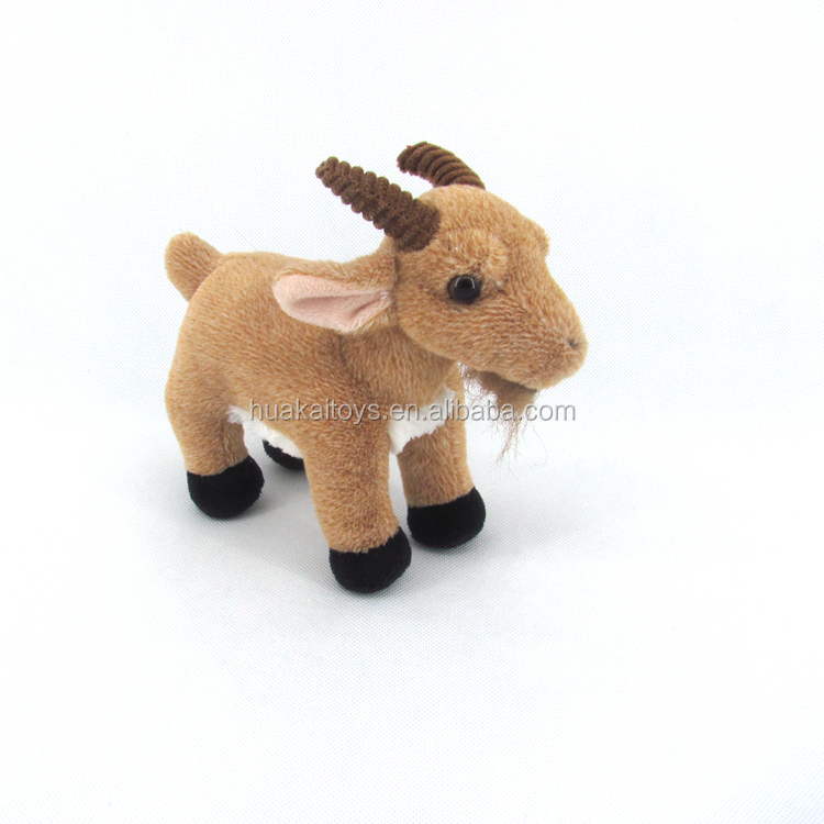 "GDL4051-1 8"" standing stufeed montain goat toy plush"