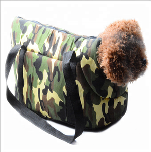 Fashion camo portable pet carrier bag