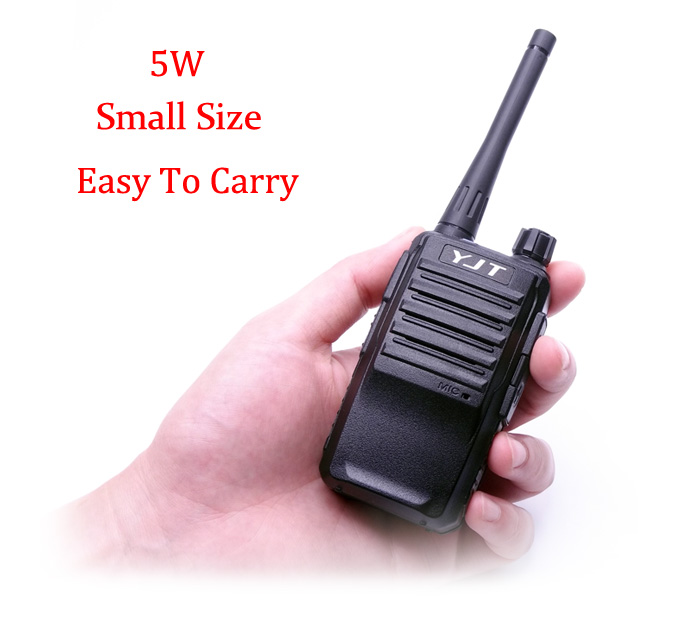 2018 New Small Size 5W 16CH UHF Restaurant Hotel Security Guard walkie talkie walk talkies talkie-walkie