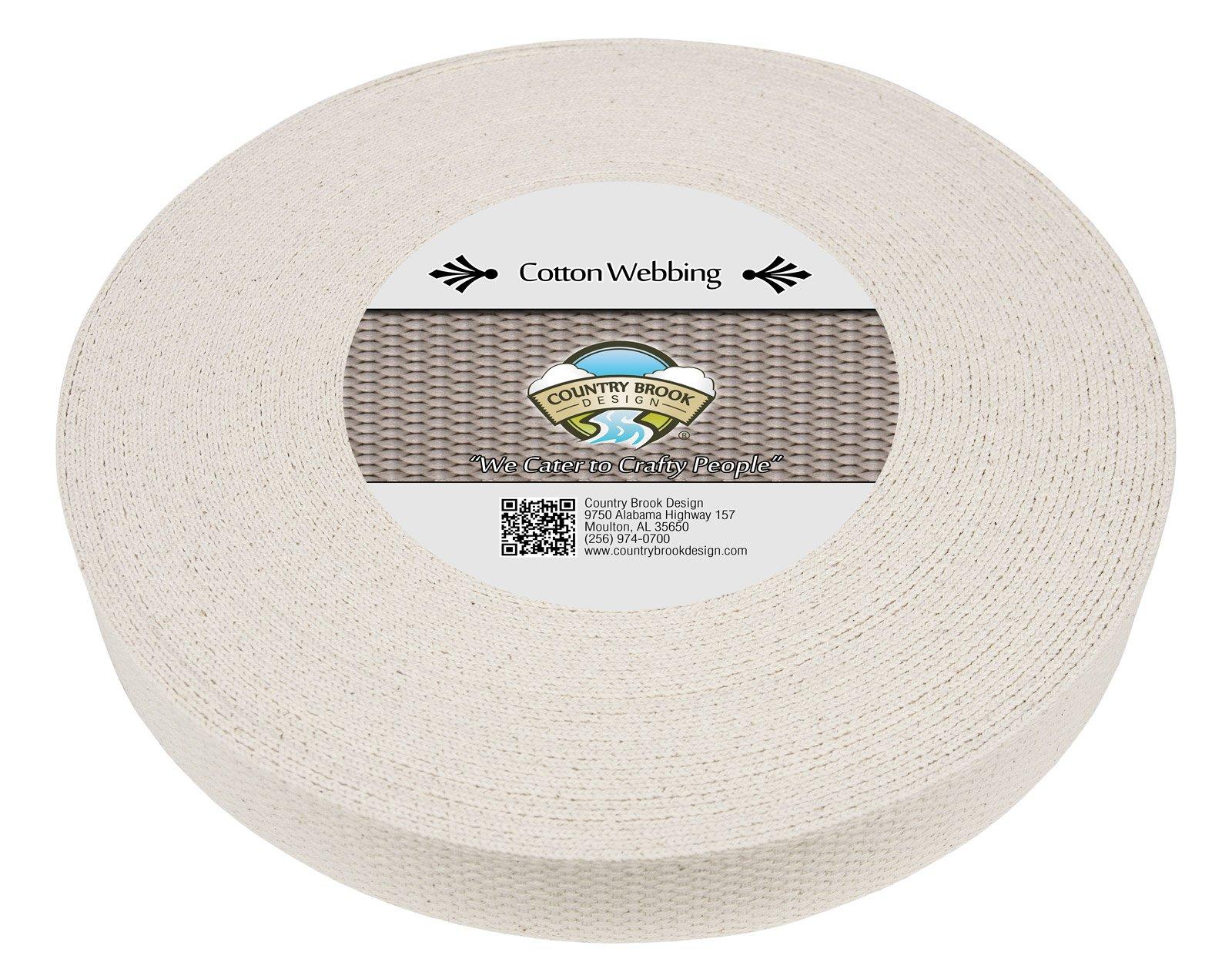 Country Brook Design® 1 1//4 Inch Camel Heavy Cotton Webbing 25 Yards