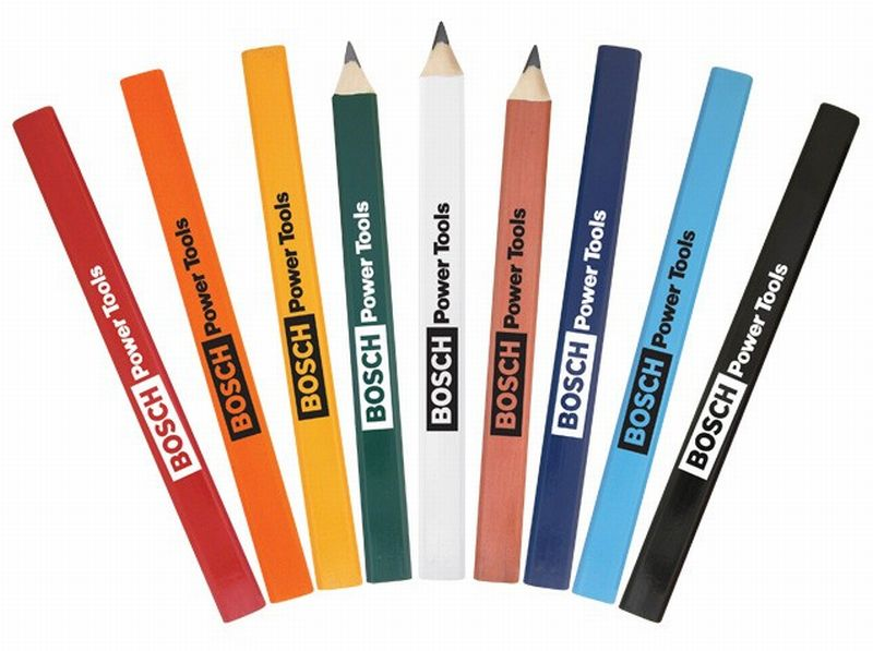 OEM Standard Promotional Builder Construction Round Oval Rectangle shape colorful wooden carpenter pencils