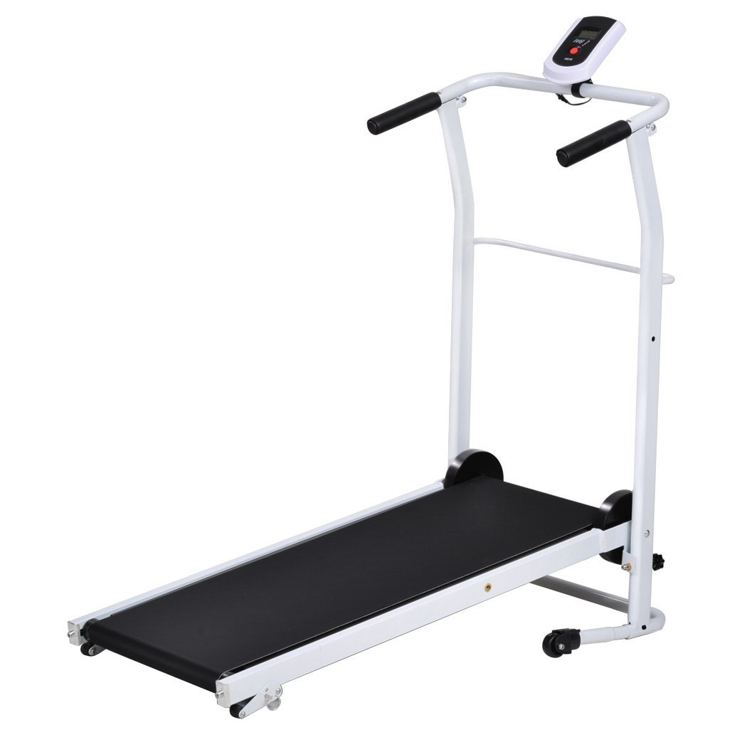 Get Quotations · Wakrays Portable Folding Mechanical Easy-Up Manual  Treadmill Cardio Fitness Exercise Running Machine Home Gym