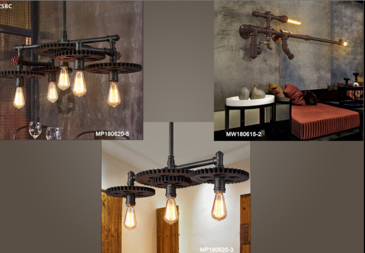 specialty customization Antique industrial style wall lights for home purple wall lamp
