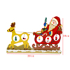 QS brand christmas decoration wooden christmas sleigh car wholesale christmas craft supplies