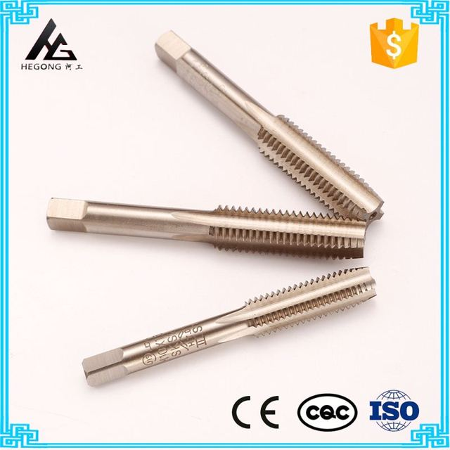 manual operation 3pcs set cobaltic cobaltiferous straight flute screw tap new items for promotional sales