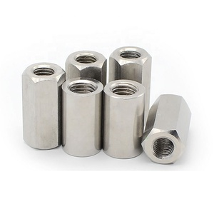 M3 M4 M5 M6 M8 1/4-20 DIN6324 Stainless Steel A2-70 Hex Long Coupling Nuts