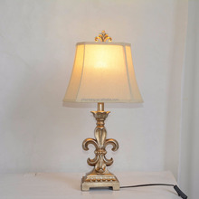 fleur de lis table lamp fabric cloth lamp shade