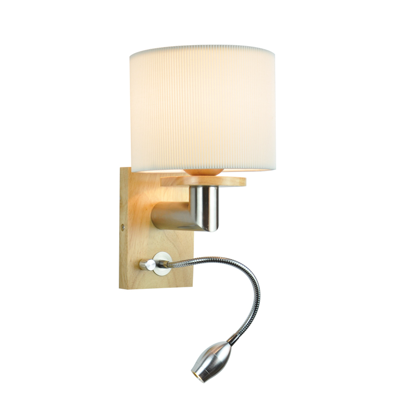 Hotel simple interior sconce wall light with swing arm reading lamp