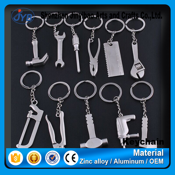 hot sale mini tools shape metal key chain