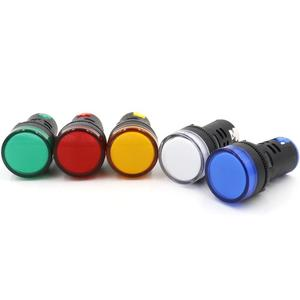 HIGH QUALITY 220V LED INDICATOR LIGHT 22MM LED PILOT LIGHT SIGNAL LAMP