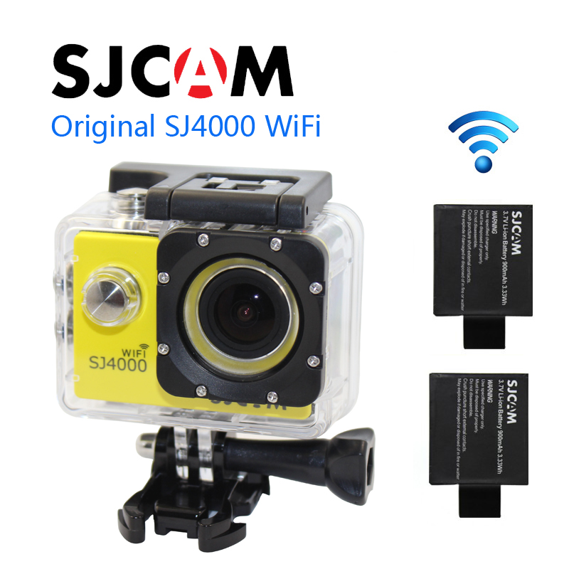 Free shipping!!Original SJ4000 WiFi Sport Action Waterproof Camera+Extra 1pcs battery+Battery Charger