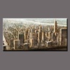 Beautiful wall art abstract cityscape oil painting on canvas for hotel decoration