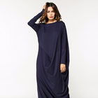 hot sale plus size loose fit jersey abaya dubai malaysia in chia