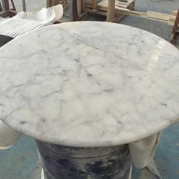 Bianco Carrara White Marble Table Top Product On Alibaba
