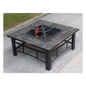 Outdoor Patio Ceramic Tile Fire Pit Bbq Stove With Grill Product On Alibaba
