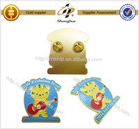 2014 high quality gold metal badge paint