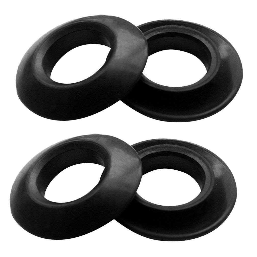 2 Pairs Shoreline Marine Kayak Carry Handle With Bungee Cord Rubber Black
