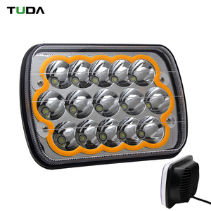 Factory Drl Blue Yellow Red Angle Eyes 7x6 Led Headlight Offroad,Atv Truck 5x7 Led Headlight