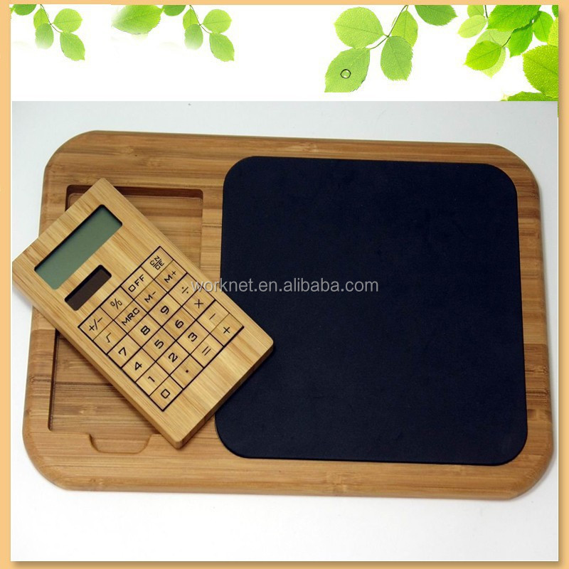 wedding gift natural handmade craft bamboo solar calculator and bamboo mouse pad set