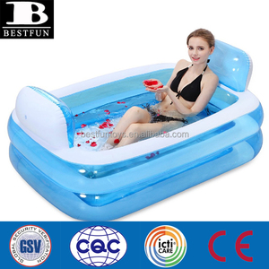 high quality inflatable bathtub adult plastic portable bath tube safety air bathtub