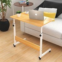 Adjustable Overbed Table Movable Bedside Height-Adjustable Laptop Table Lazy Computer Stands Multi-function Table