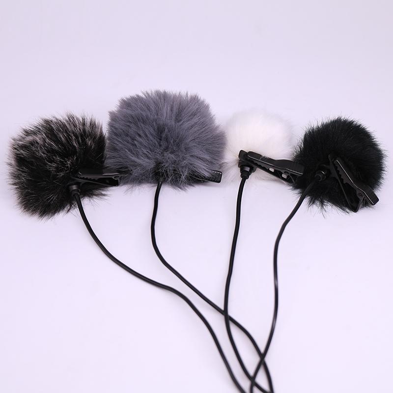 Ulanzi 4pcs Outdoor MIC Furry Cover Windscreen Windshield Muff for RODE BOYA Lavalier Label Microphone Professional Accessories