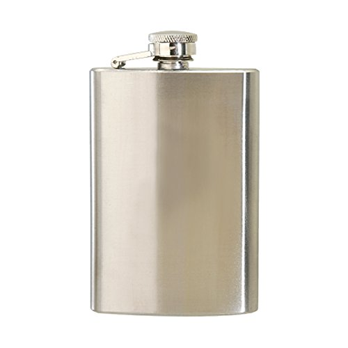 Buy MITCHELL Brushed Stainless Steel Hip Flask Scottish Clan Coat of